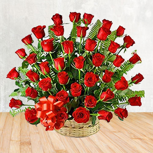 Enchanted Bouquet of 50 Red Roses