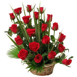 Graceful Roses Bloom Basket