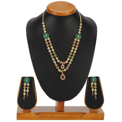 Mod Decoration Necklace with Earrings Set