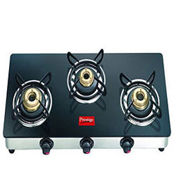 Futuristic Gas Burner Oven with Glass-Top from Prestige