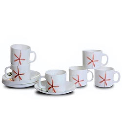 Drink Tea with LaOpala Tea Cup Saucer Set