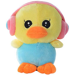 Opulent Duck with an Earphone