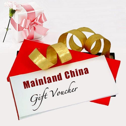 Superb gift voucher  worth Rs.2000 from Mainland China