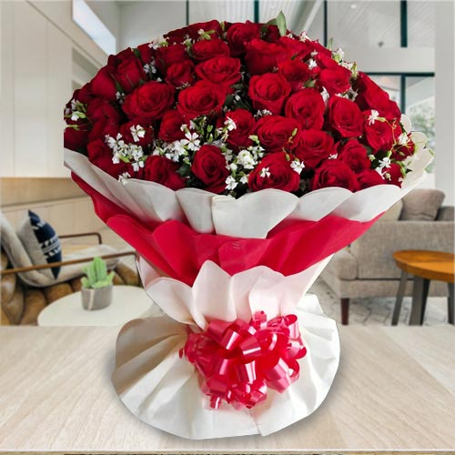 Wonderful Bouquet of 100 Red Roses