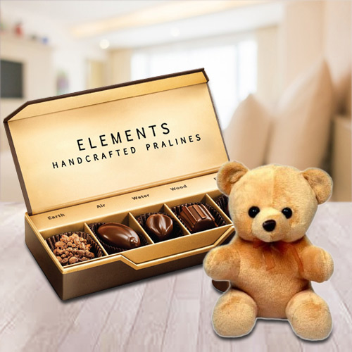 Tempting Element Chocolates from ITC with a Small Teddy