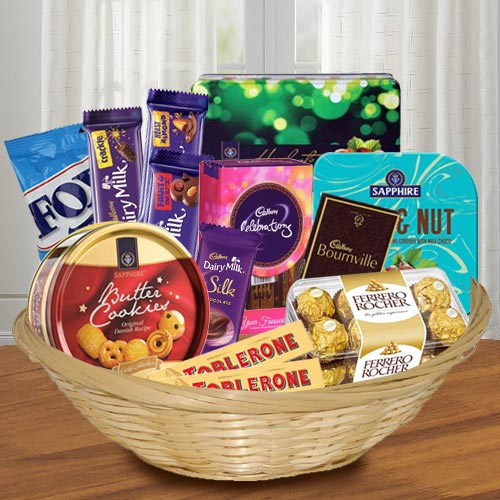 Lovely Chocolates Hamper for Brothers