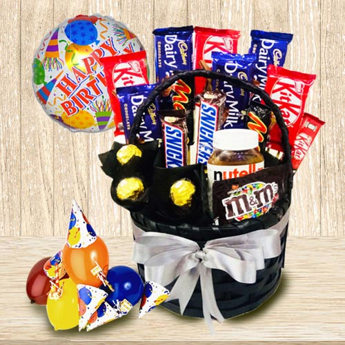 Marvellous Chocolate Gift Basket for Boys and Girls