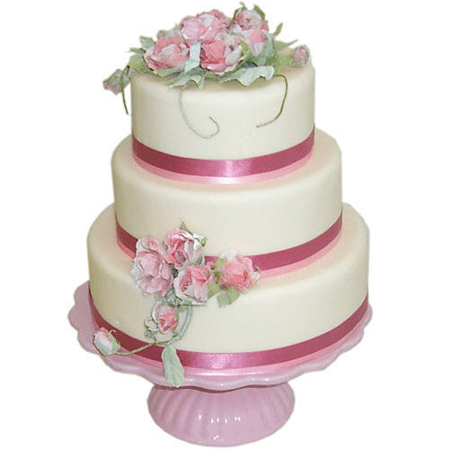 Delectable Three-Tier Wedding Cake