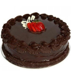 Delectable Anniversary Eggless Chocolate Cake