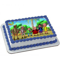 Made-Fresh Motu Patlu Cake for Kids