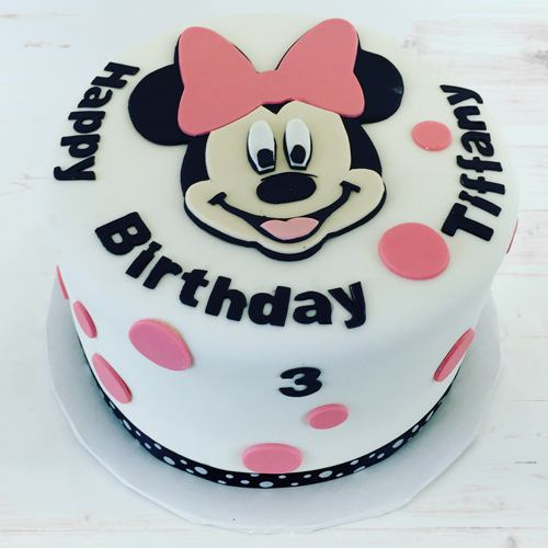 Mouth-Watering Minnie Designed Cake for Kids