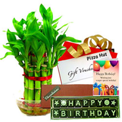 Unique Birthday Hamper with Pizza Hut Gift Voucher