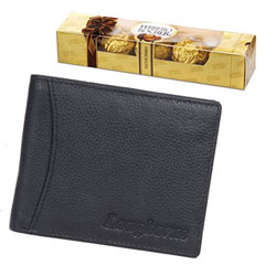 Luscious Ferrero Rocher Chocolate with Longhorns Leather Wallet