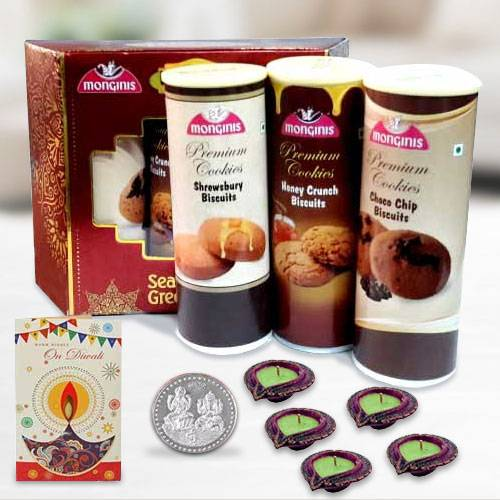 Crunchy Cookies from Monginis with Diya n Card