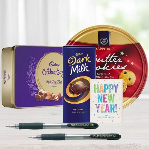 Delectable XMas Chocos N Cookies Gift Combo