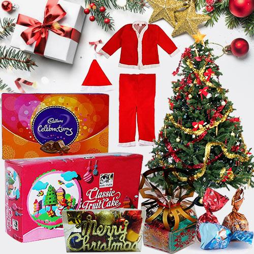 Graceful Arrangement of Christmas Gift Items