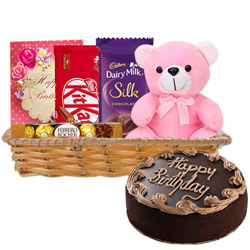 Fabulous Gift Hamper of Birthday Gifts N Chocolate Cake