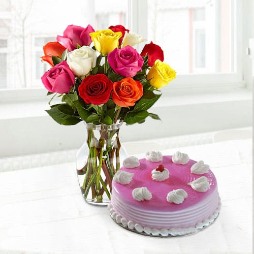 Lip Smacking Cake n Roses for Mom