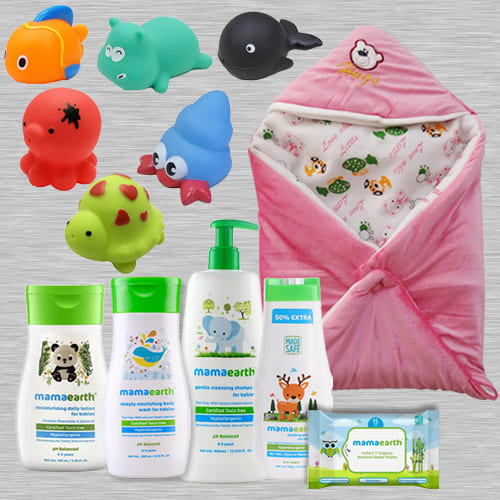 Lovely Mamaearth New Born Complete Care Gift Hamper