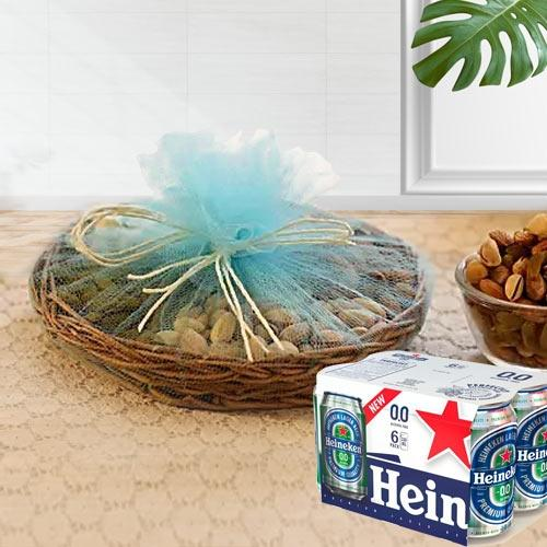 Exclusive Dry Fruits n Non Alcoholic Beer Gift Hamper