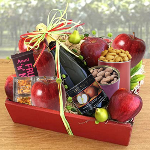 Marvelous Tray of Fresh Fruits N Assortments