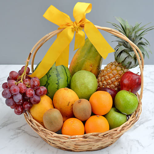 Mouth-Watering Fresh Fruits Gift Basket