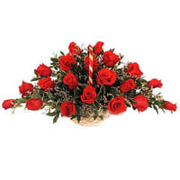 Dazzling Archangelic Red Roses Arrangement