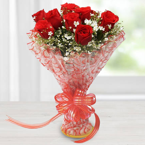 Lovely Red Roses Bouquet