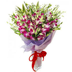 Exotic Purple Orchids Bouquet