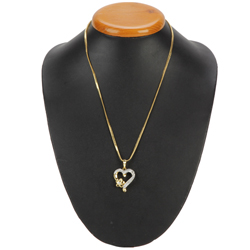 Fashionable Heart Shaped Pendant with Chain