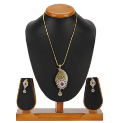 Cherishing Intrigue Pendent and Earrings Set