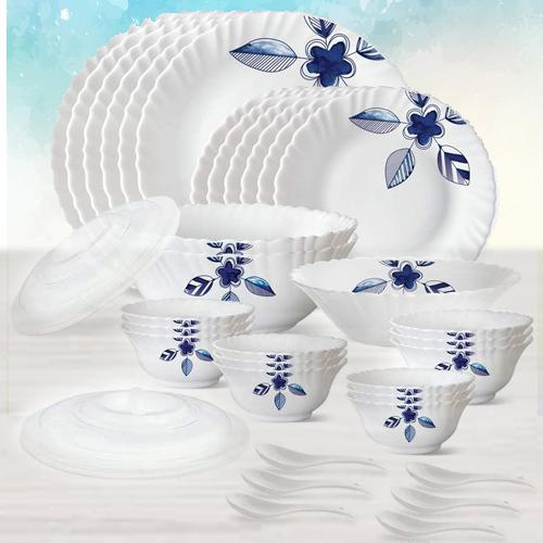 Amusing Larah by Borosil Morning Glory Silk Series Dinner Set