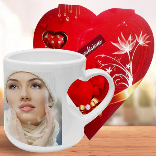 Elegant Personalized Coffee Mug with Homemade Chocolate