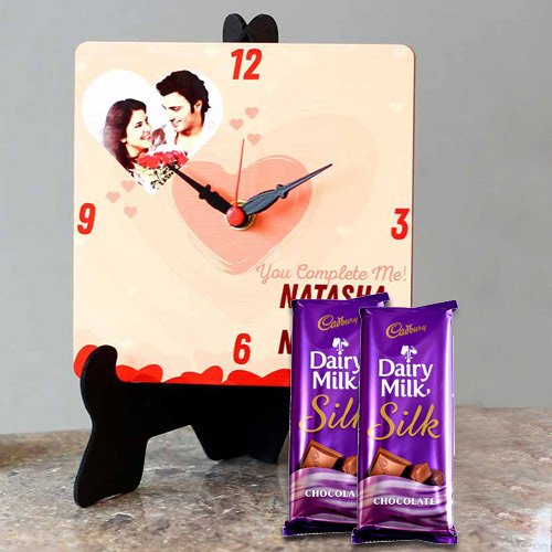 Eye Catching Personalized Photo Clock with Cadbury Dairy Milk Silk