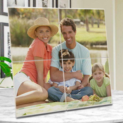 Wonderful Personalized Photo 4 Tile Mural Frame