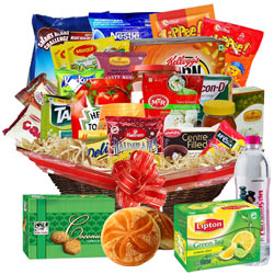 Tempting Wake Up Basket Hamper