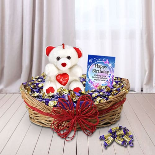 Delightful Birthday Gift Basket <br>