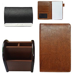 Breathtaking Combo of Visiting Card Holder, a Pen Stand and Multipurpose Passport Holder