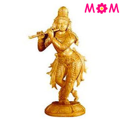 Outstanding Statue of Lord Krishna Made of Sandalwood