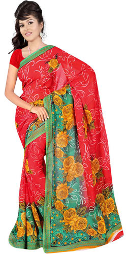 Marvelous Women�s Georgette Fabric Saree by Suredeal