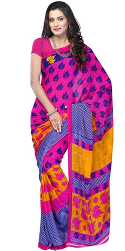 Titillating Flair Mix Material Saree