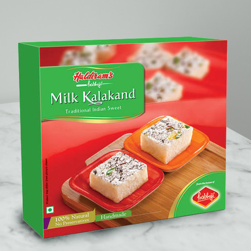 Hunger�s Gaiety Milk Kalakand Sweets Box from Haldirams