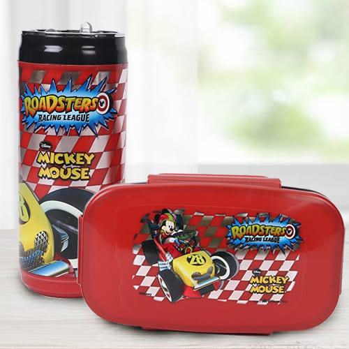 Amazing Mickey Mouse Lunch Box n Sipper Bottle Combo