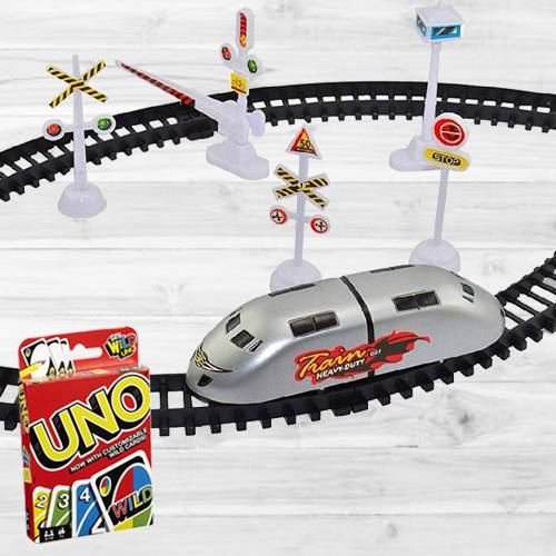 Exclusive Trains N Train Sets N Mattel Uno Card Game